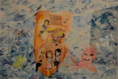 """Young People's Award Highly Commended """"Alone at Sea"""" By Indiana Gingio"""