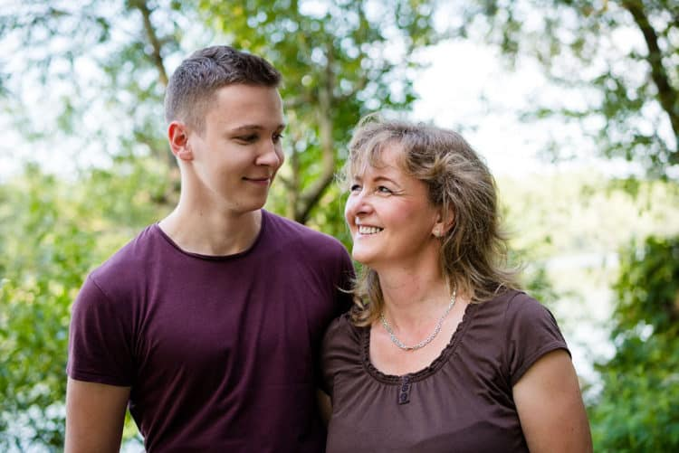 NDIS services - mum and son together