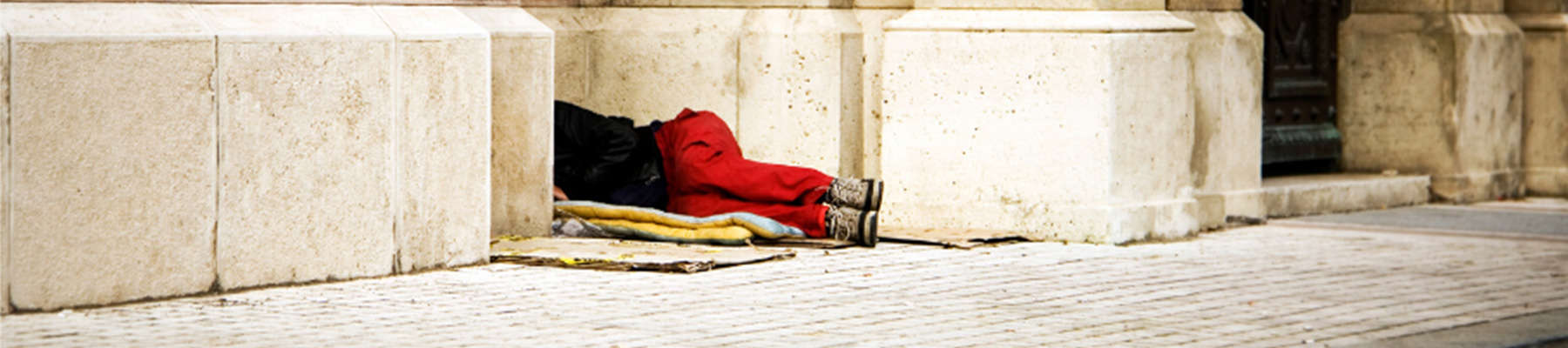 Health on The Streets. Man sleeping rough